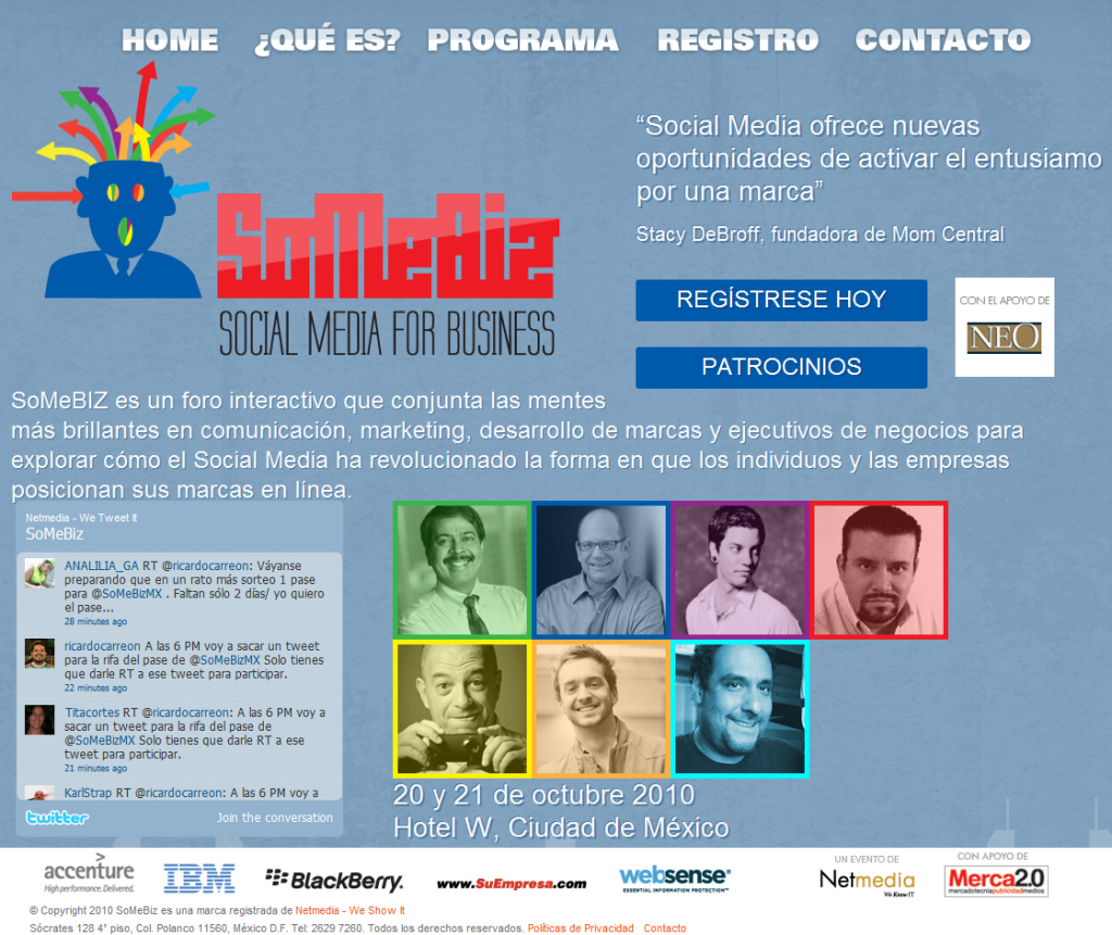 Foro Interactivo: Social Media for Business (SoMeBiz) #DF #Mexico
