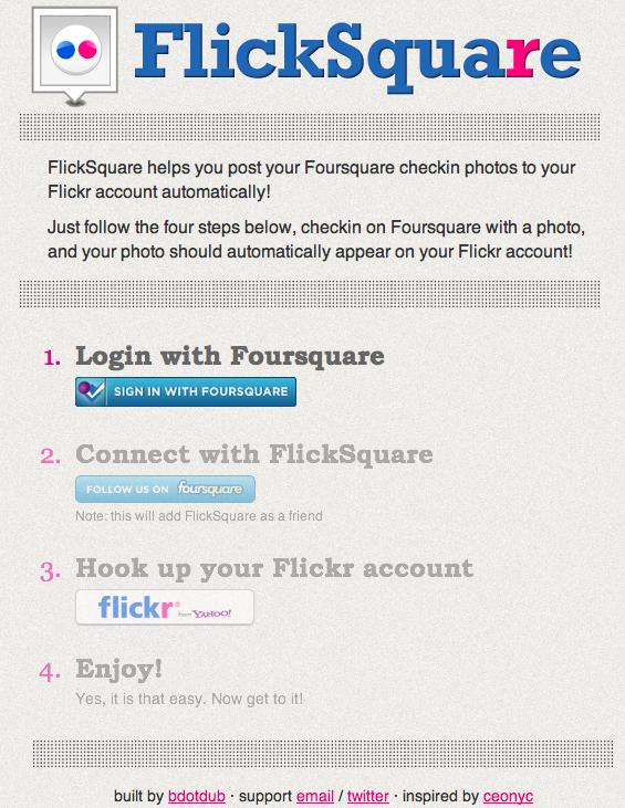 Sabes cómo conectar Foursquare con Flickr?