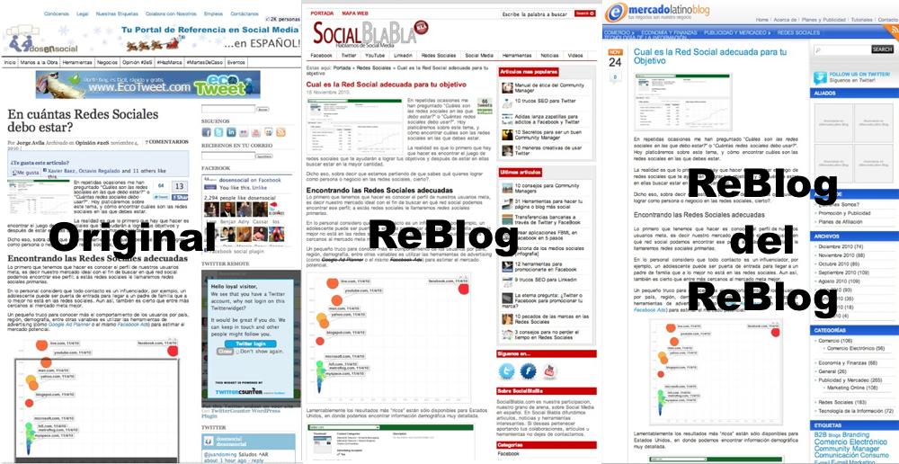 7 Consejos para que el ReBlogging no acabe con tu Blog!