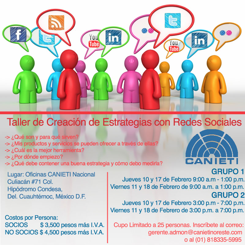 El Taller de Creación de Estrategias con Redes Sociales llega al #DF #CANIETI