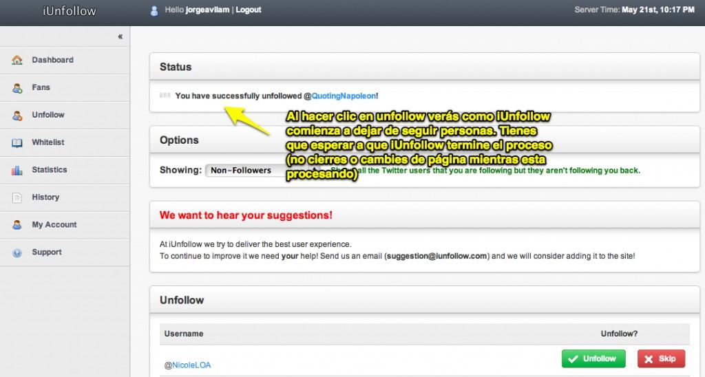 Cómo dejar de seguir a los que no me siguen en Twitter? – Parte 2 [Web App]