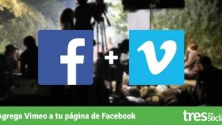 Cómo agregar Vimeo a tu página de Facebook