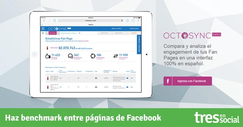 Haz benchmark entre páginas de Facebook con @Octosync #PruebaOctosync