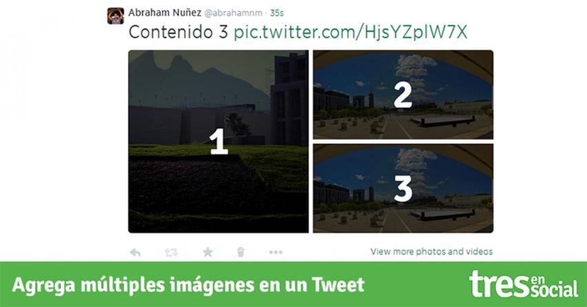 ¿Cómo añadir múltiples imágenes en un tweet?
