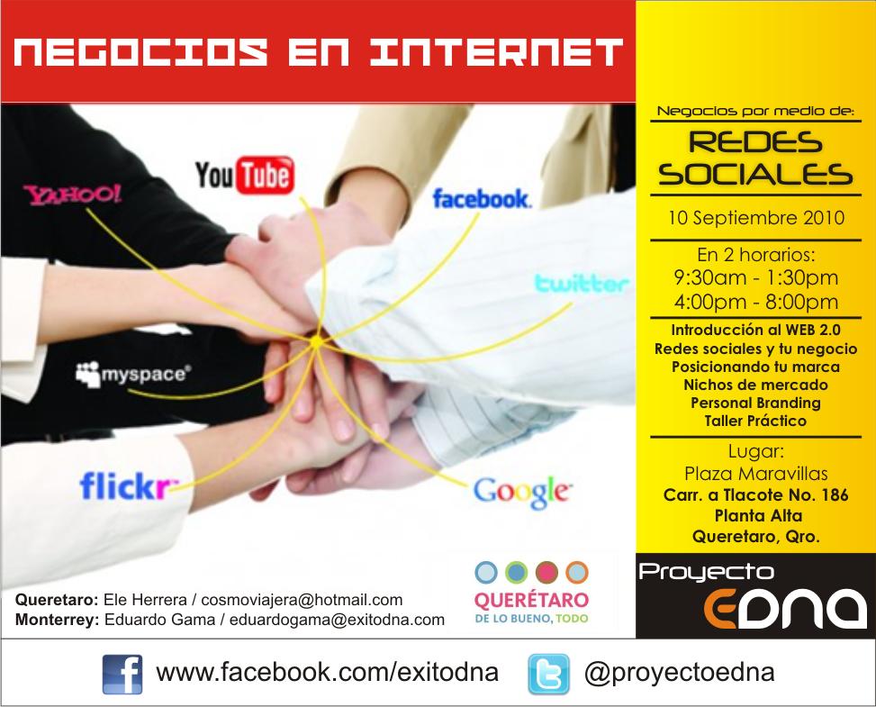 Curso: Negocios por medio de Redes Sociales por @proyectoedna