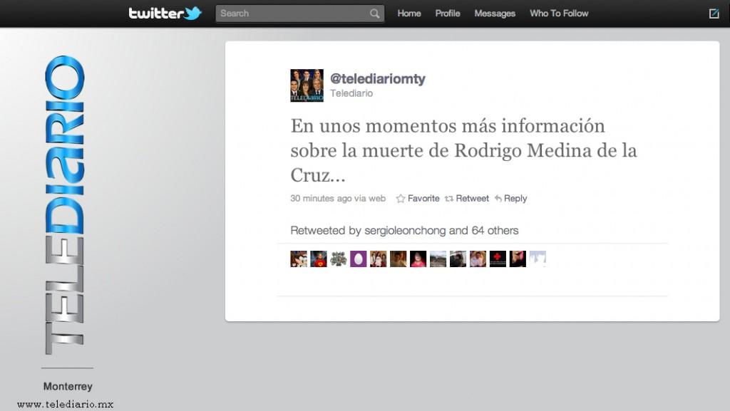 La importancia del Control de Acceso de tus perfiles en las Redes Sociales – Caso @telediariomty