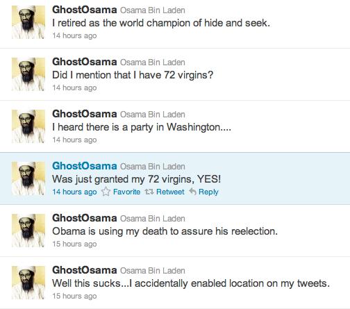 Las redes sociales tienen hambre de información y… humor. #Osama