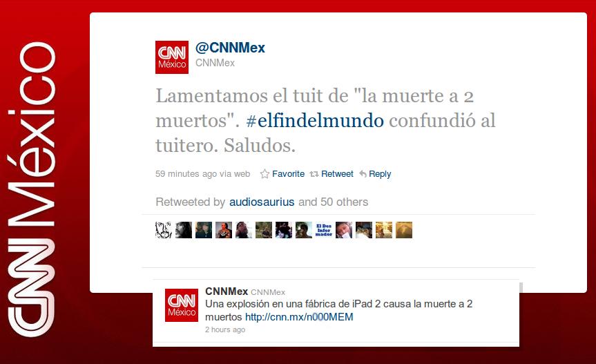 Las tres H's para atender tus errores en las Redes Sociales: Caso @CNNMex