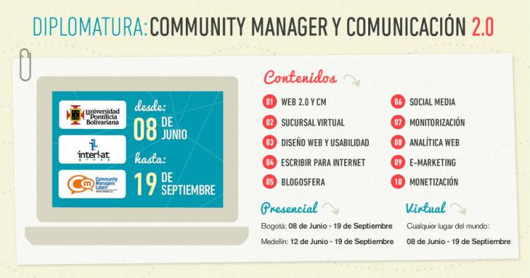 Gana una cortesía a la Diplomatura Community Manager y Comunicación 2.0 con @dosensocial y @CMLatam