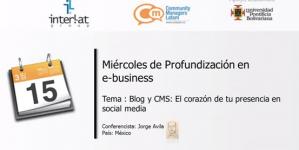 Webinar Blog y CMS: El Corazón de tu presencia Social Media