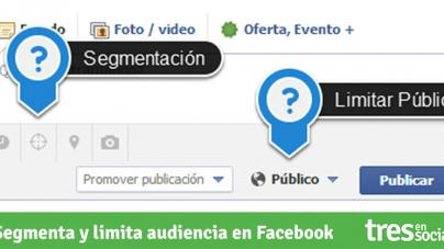 Cómo usar los botones de segmentación y límite de audiencia en Facebook