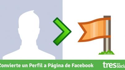 Cómo convertir un Perfil personal en una Página de Facebook