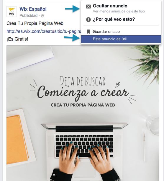 Cómo cambiar las preferencias de Anuncios en Facebook