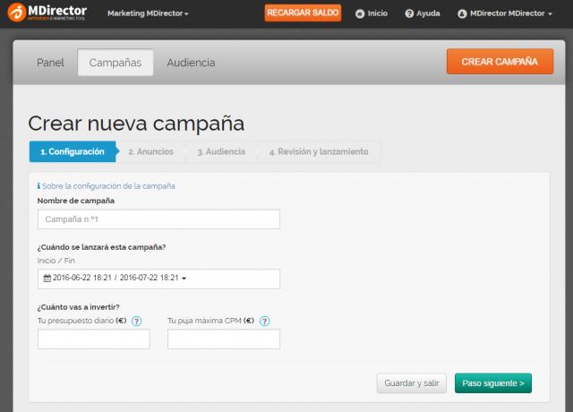 MDirector_CRM_Retargeting_crear_campaña